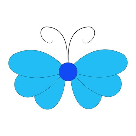 Butterfly design. Vector Beautiful Butterfly isolated on white background. Butterfly - vector icon. Ilustrace