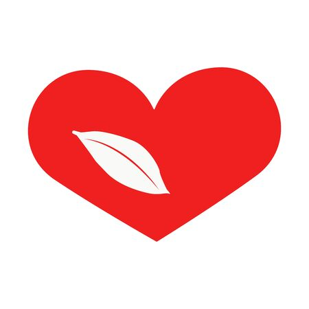 Vector nature heart of outline hand drawn heart icon. Illustration for your graphic design.