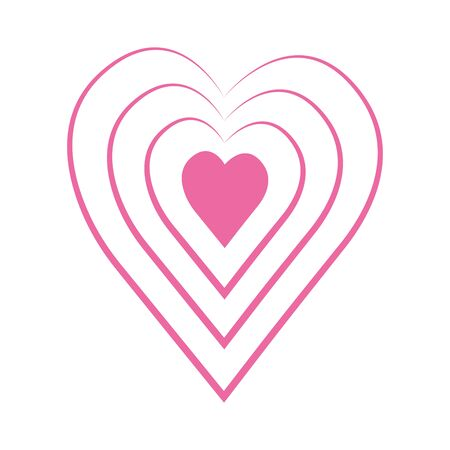 Vector heart of outline hand drawn heart icon. Illustration for your graphic design. Stock Vector - 138298149