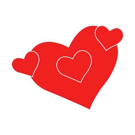 Vector heart of outline hand drawn heart icon. Illustration for your graphic design. Ilustrace