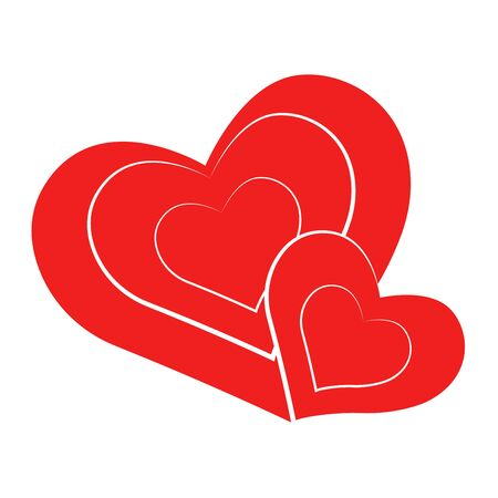Vector heart of outline hand drawn heart icon. Illustration for your graphic design. Stock Vector - 138297880