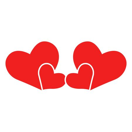 Vector heart of outline hand drawn heart icon. Illustration for your graphic design. Stock Vector - 138297771