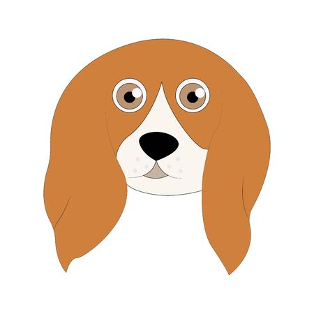 Dog sitting. Vector puppy pooch. Cute cartoon funny character. Help homeless animal concept. background Isolated. Ilustração