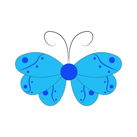 Butterfly design. Vector Beautiful Butterfly isolated on white background. Butterfly - vector icon. Vettoriali
