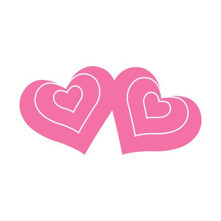 Vector heart of outline hand drawn heart icon. Illustration for your graphic design.