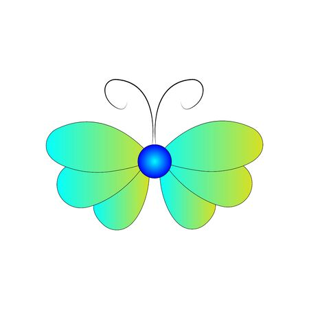 Butterfly design. Vector Beautiful Butterfly isolated on white background. Butterfly - vector icon.