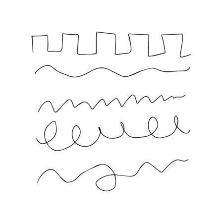 Vector lines set. Grunge pencil line. black doodle graphite art texture hand drawn sketch elements. 向量圖像