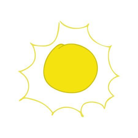 Sun Yellow sunrise symbols nature vector. Illustration