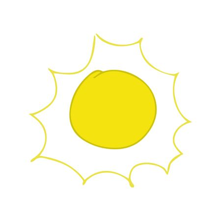 Sun Yellow sunrise symbols nature vector. Vettoriali