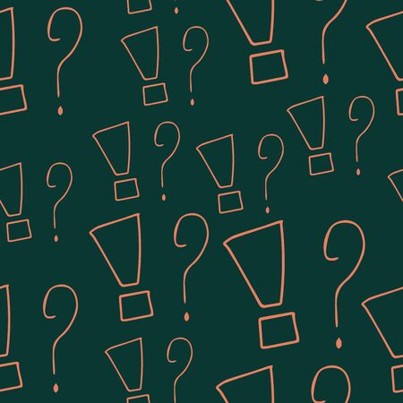 Question marks seamless pattern. Vector sketch question marks background Illustration