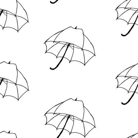 Umbrella Vector Seamless Pattern. Background for textiles, cards, manufacturing, wallpapers, print, gift wrap and scrapbooking.