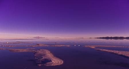 salar de uyuni: Salar de Uyuni in Bolivia, sunrise