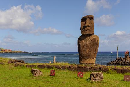 moai: moai. Am�rica del Sur Pascua isla del oc�ano.