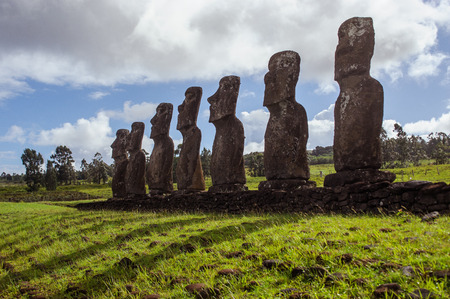 moai: moai Sudam�rica. Isla de Pascua. Estatuas.