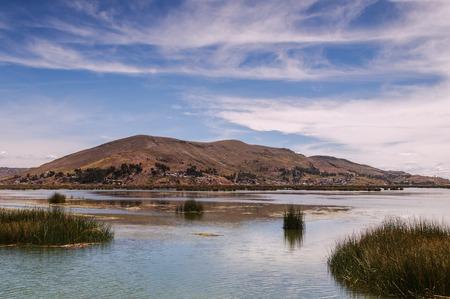 peruvian ethnicity: Puno, Titicaca lake Stock Photo