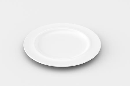 grunge flatware: empty plate
