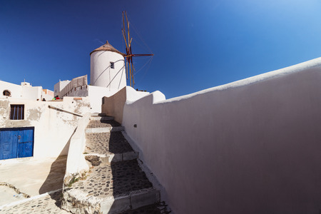 santorini island: Santorini Island. Greece. Oia.  Summer. Stock Photo