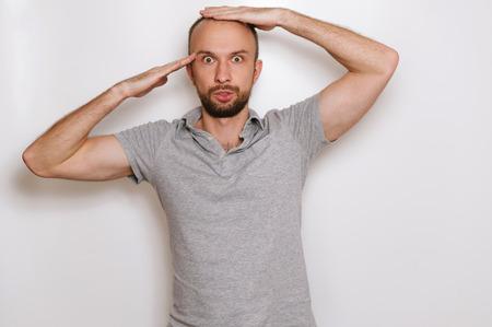 balding: Balding man.