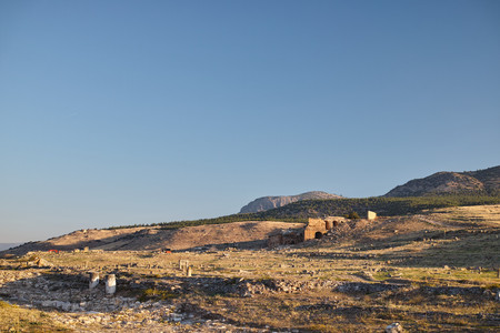 hierapolis: The ruins of Hierapolis Stock Photo