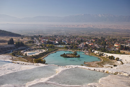pamuk: Pamukkale Stock Photo