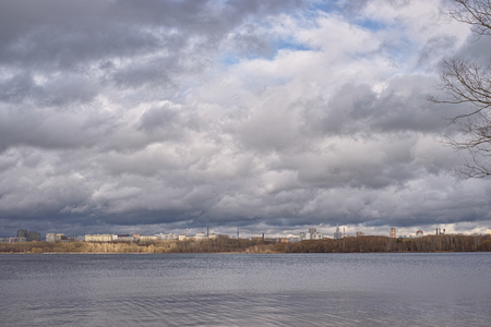 artificially: Body of water in the Moscow river Stock Photo