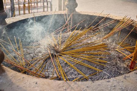 incense sticks: Smoldering incense sticks