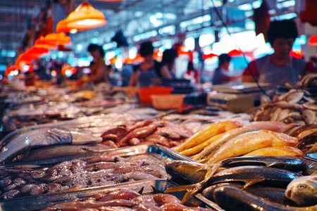 seafood at the fish market photo