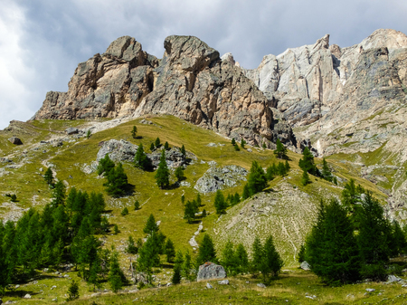 rosengarten: The Dolomites are a mountain range located in northeastern Italy. They form a part of the Southern Limestone Alps and extend from the River Adige in the west to the Piave Valley  in the east. The northern and southern borders are defined by the Puster Val