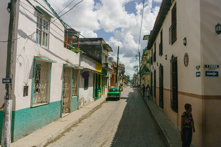 cana: Colored houses on the streets of Trinidad, Cuba