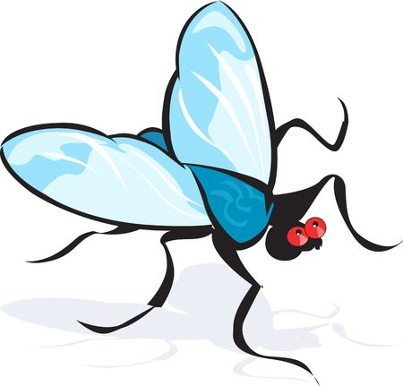 Illustration of a silhouette of bee with wings open  illustration