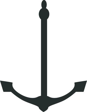 mooring anchor: Illustration of an anchor isolated in white