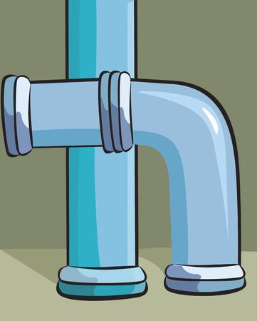 waterpipe: Illustration of  Water Pipe with joints