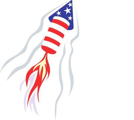 Illustration of Celebration with fire works Stock Illustration - 2892885