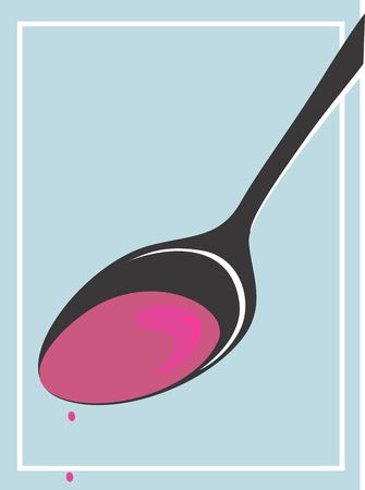 Illustration of a spoon of syrup Stock Illustration - 2893109