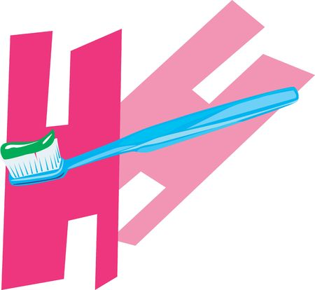 Illustration of toothpaste in a toothbrush Stock Illustration - 2893373