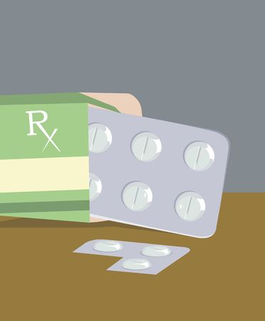 medicament: Illustration of medicines in a packet  Stock Photo