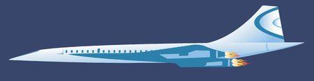 propulsion: Illustration of a jet aeroplane in sky
