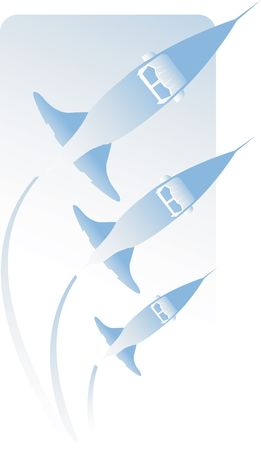 warhead: Illustration of three rockets in air