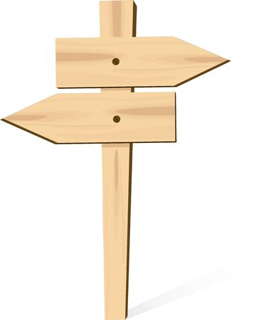 Illustration of a wooden board in a post  illustration