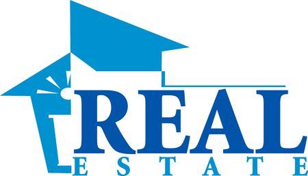 Illustration of real estate in blue Stock Illustration - 2892530
