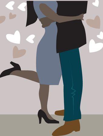 Ilustración de las partes del cuerpo de un hombre y una mujer bailando  Foto de archivo - 2893210