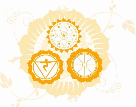 Ilustración de los símbolos religiosos hindúes Foto de archivo - 2893073