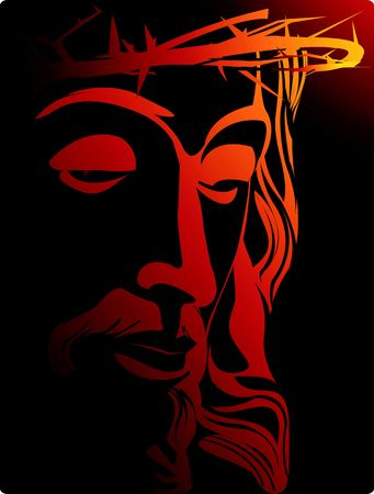 Illustration of Jesus Christ with crown of thorns