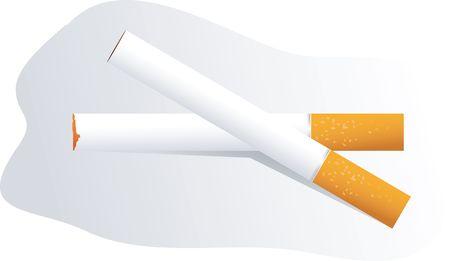 Illustration of two cigarettes  illustration