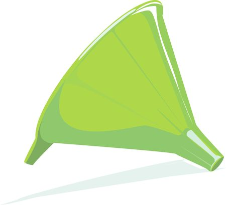 lube: Illustration of a green colour funnel  Stock Photo