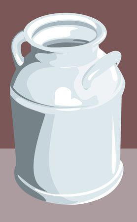 Illustration of a tin milk container Stock Illustration - 2897535