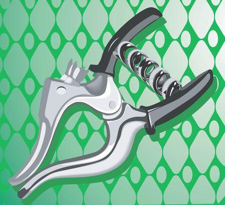 Illustration of a spring clipper  illustration