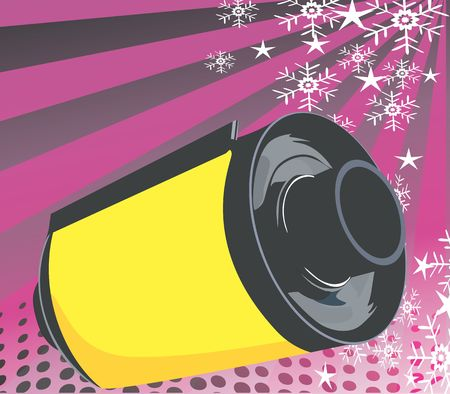 negativity: Illustration of a film roll in beam background  Stock Photo