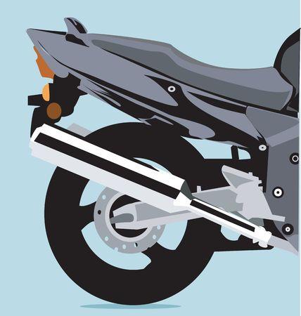 motorised: Illustration of a motorbike