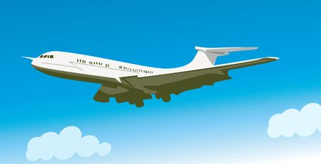 aviations: Illustration of an aeroplane in flying